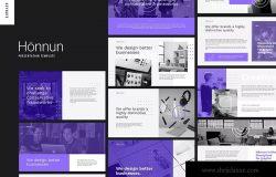 创意科技项目推介Keynote演示文稿模板 HONNUN – Creative Technology Keynote Template