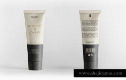 美容化妆品软管包装样机 Cosmetic Tube Packaging Mockup