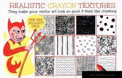 蜡笔画手绘必备:蜡笔纹理和图案设计素材 Wax Crayon Textures and Patters