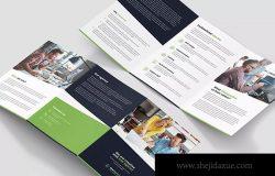 Web网站设计策划公司A5尺寸三折页传单模板 Brochure – Web Agency Tri-Fold A5