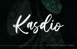 随意手写风格英文笔刷字体合集 Kasdio – Casual Brush Font