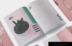 美国信纸尺寸规格杂志封面&内页排版设计效果图样机 Magazine Mockup – US Letter 8.5×11 Inch Size