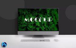 iMac Pro一体机电脑屏幕演示样机模板