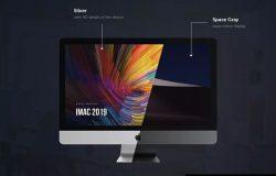 2019款iMac电脑一体机样机模板 iMac 2019 Mockup