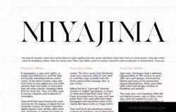 受日本装饰艺术影响的经典无衬线字体系列