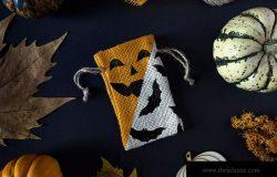 万圣节主题布袋样机设计模板 Halloween mockup