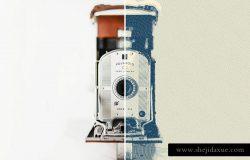 磨损老照片效果一键生成智能对象PSD模板 Worn Press Photoshop Effects Kit