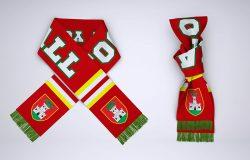 足球球迷围巾定制设计样机模板