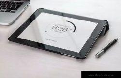 手持iPad使用场景APP应用&网站设计演示模板 Tablet Mock-up