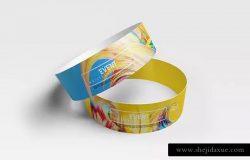 手腕带设计样机展示模板 Event Wristbands Mockup