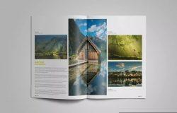 人像摄影艺术作品合集杂志画册设计模板 Photographer Album Portfolio