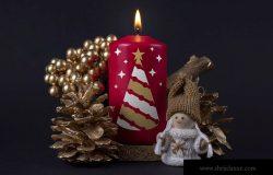 圣诞节蜡烛印花图案效果图样机模板 Christmas candle mockup