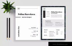 极简主义设计风格个人职位应聘简历模板V13 Clean Resume