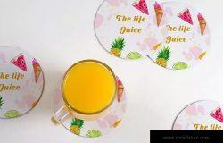 杯垫图案设计样机模板 Drink Coaster Mock Up