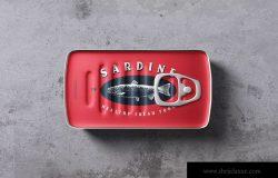 方形食品罐头包装外观设计样机