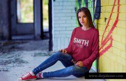 时尚品牌运动衫运动卫衣服装样机Vol.1 Sweatshirt Mock-Up Vol.1