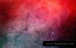 星空艺术水彩太空背景图片素材 Space Watercolor Backgrounds