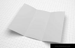 三折页宣传册设计多角度预览样机模板 Trifold Brochure Mockup