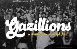 英文粗体书法字体&花式字体 Gazillions Script Font Duo