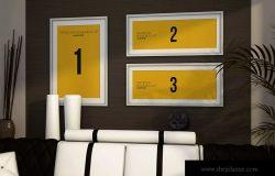 室内装饰画框艺术创作预览样机模板素材 Indoor House MockUp Templates