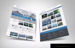 网站UI设计3D展示图样机模板 3D Web Presentation Mockup