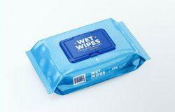 湿纸巾包装设计样机模板