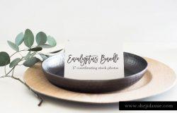 绿色植物点缀便签实景样机模板 Stock Photo Bundle | Bridal/Invites