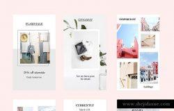 极简主义品牌社交媒体宣传Canva模板 CANVA Fresh Insta Stories