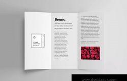 三折页传单内页设计效果图样机