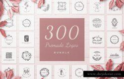 300款预制矢量标志合辑下载 300 Premade Logos Bundle [ai,eps,psd,png] 4.29 GB