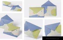 高端企业信封外观设计图样机模板 Envelope C5 – C6 Mock-Up Set