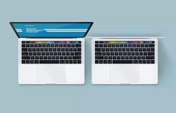 苹果笔记本电脑样机-顶视图