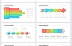 32种创意时间轴几何图形设计企业大事记幻灯片Keynote模板