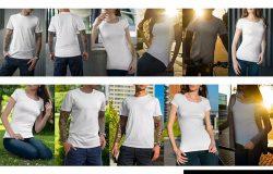 街头潮牌风格-T恤服装印花图案设计样机模板