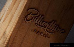 木刻/实木雕刻Logo效果图样机模板 Wood Logo Mockups