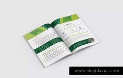 双折页企业宣传传单设计EPS模板 Bifold Brochure