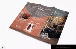 时尚服饰品牌三折页宣传单设计模板 Casual – Fashion Trifold