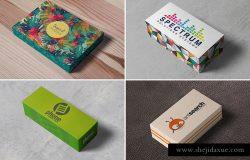 5个不同类型的高品质包装盒子VI样机展示模型mockups