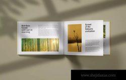 横板产品目录画册内页版式效果图样机
