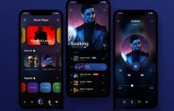 音乐播放器APP界面 Music Player UI Design Screens 每日UI源文件分享 Daily UI