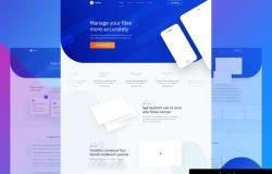 设计师UI作品网页提案成套模版素材
