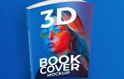 立体书籍封面展示样机模版 3D Book Cover Mockup
