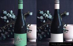 真实拍摄的啤酒瓶场景展示贴图PSD模版 Wine Bottle Mockup