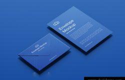 信封信纸品牌贴图提案样机PSD模版素材 Envelope mockup