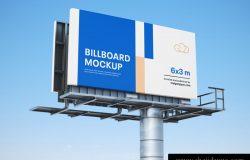 马路高速公路广告牌高炮设计贴图展示样机模版 Billboard mockup