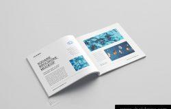 方形宣传画册小册子内页设计提案样机PSD模版 Square brochure mockup