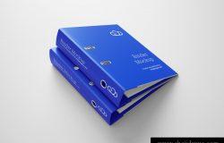 文件夹文件收纳袋办公用品样机品牌提案模版素材 Binder Mockup
