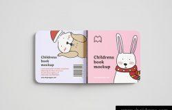儿童漫画书童话书封面封底内页设计贴图展示样机PSD模版 Childrens Book Mockup