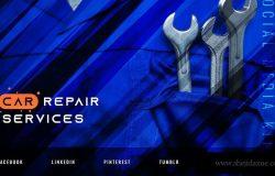 汽车维修服务社交媒体宣传广告设计模板 Car Repair Service – Automotive Social Media Kit