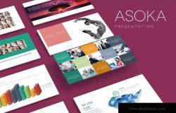 企业团队介绍PPT幻灯片模板下载 ASOKA Powerpoint Template